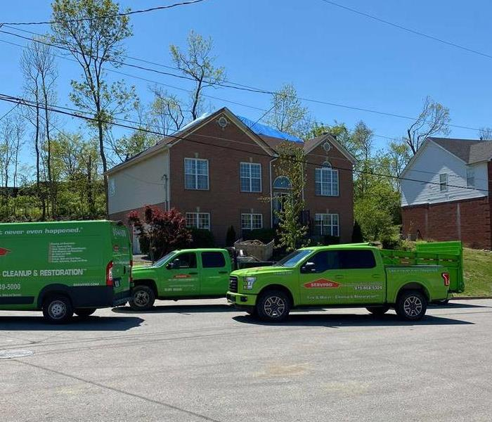 Independently owned and operated, trucks on street